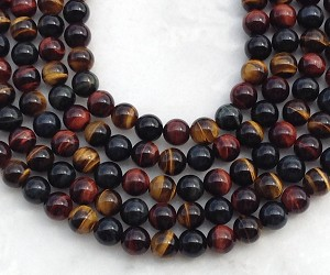 3-Color Tiger Eye 10mm Round
