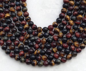 3-Color Tiger Eye 8mm Round