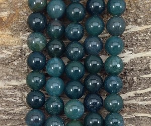 Green Moss Agate 12mm Round