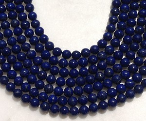 Natural Lapis 8mm Round