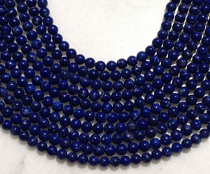 Natural Lapis 6mm Round