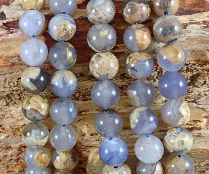 Skin on Blue Chalcedony 10mm Round
