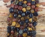 3-Color Tiger Eye 8x10mm Tumble Nugget