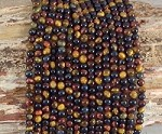 3-Color Tiger Eye 4mm Round