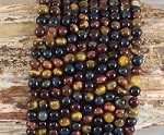 3-Color Tiger Eye 6mm Round