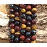 3-Color Tiger Eye 12mm Round