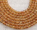 Phantom Citrine 8-9mm Faceted Round