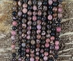 Black Rhodonite 6mm Round
