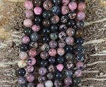 Black Rhodonite 8mm Round