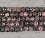 Black Rhodonite Round 2.5mm Hole 10mm