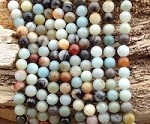 Multi Amazonite 8mm Round