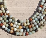 Black Amazonite 8mm Round