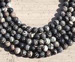 Black Picasso Jasper 10mm Round