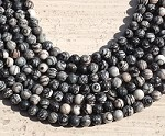 Black Picasso Jasper 8mm Round