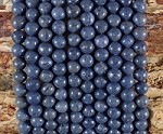 Natrual Blue Coral 6-6.5mm Round