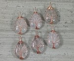 Crystal Quartz Teardrop Copper Wired Tree of Life Pendant