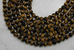 Yellow Tiger Eye 8mm faceted Round