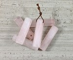 Rose Quartz Hexagon Tube Pendant