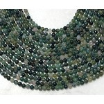 Green Moss Agate 4mm Round