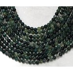 Green Moss Agate 6mm Round