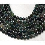 Green Moss Agate 8mm Round