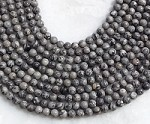 Silver Crazy Lace 6mm Round