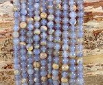 Skin on Blue Chalcedony 6mm Round
